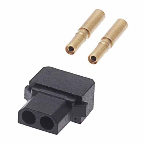 B5740-102-F-D-2 - 2 Pos. Female SIL 22AWG Cable Conn. Kit, for Latches (BS Release)