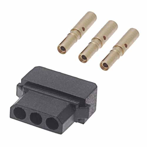 B5740-103-F-D-2 - 3 Pos. Female SIL 22AWG Cable Conn. Kit, for Latches (BS Release)