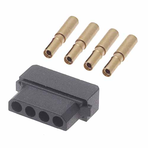 B5740-104-F-D-2 - 4 Pos. Female SIL 22AWG Cable Conn. Kit, for Latches (BS Release)