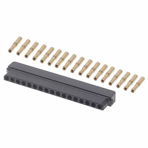 B5740-117-F-C-2 - 17 Pos. Female SIL 24-28AWG Cable Conn. Kit, for Latches (BS Release)