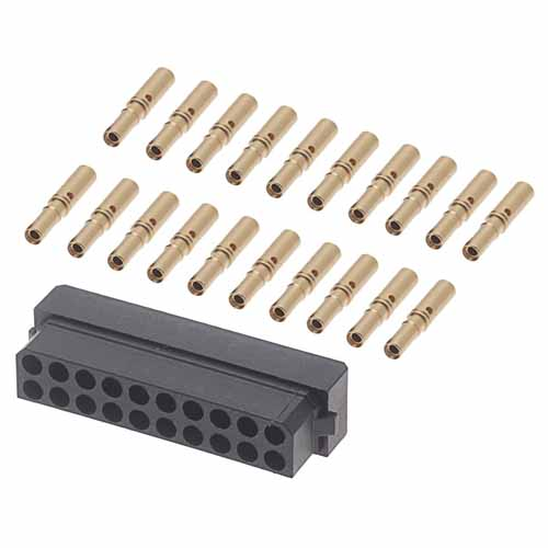 B5740-220-F-C-2 - 10+10 Pos. Female DIL 24-28AWG Cable Conn. Kit, for Latches (BS Release)