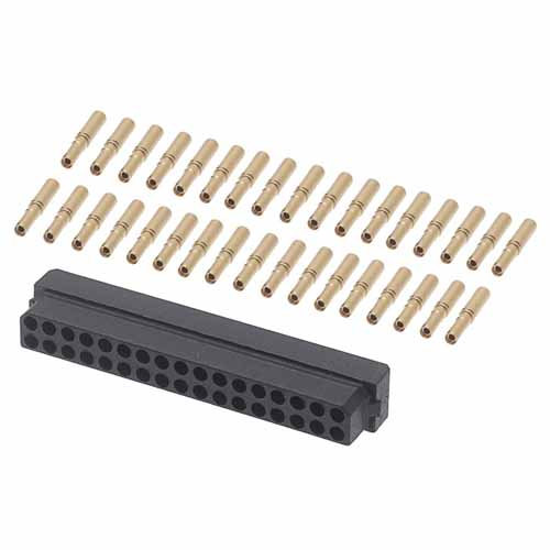 B5740-234-F-C-2 - 17+17 Pos. Female DIL 24-28AWG Cable Conn. Kit, for Latches (BS Release)