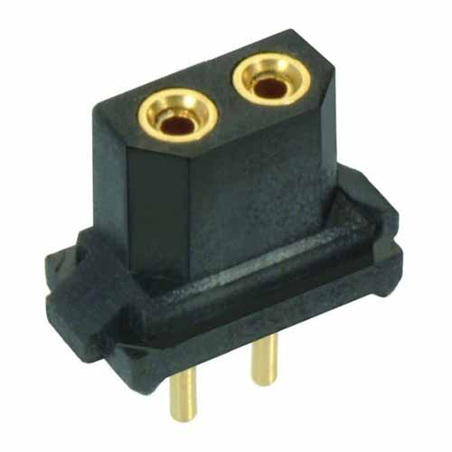 B5741-102-F-T-2 - 2 Pos. Female SIL Vertical Throughboard Conn. for Latches (BS Release)