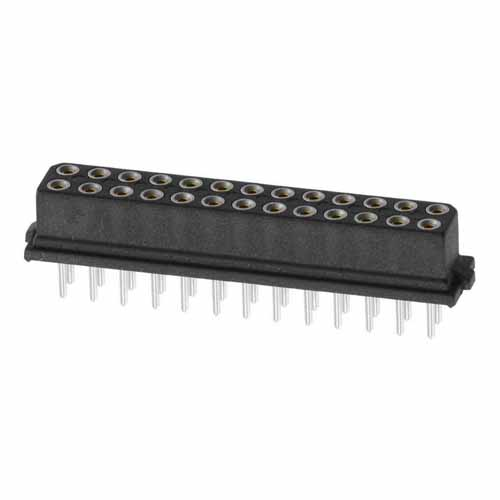 B5741-226-F-T-0 - 13+13 Pos. Female DIL Vertical Throughboard Conn. for Latches (BS Release)