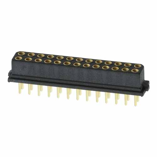 B5741-226-F-T-2 - 13+13 Pos. Female DIL Vertical Throughboard Conn. for Latches (BS Release)