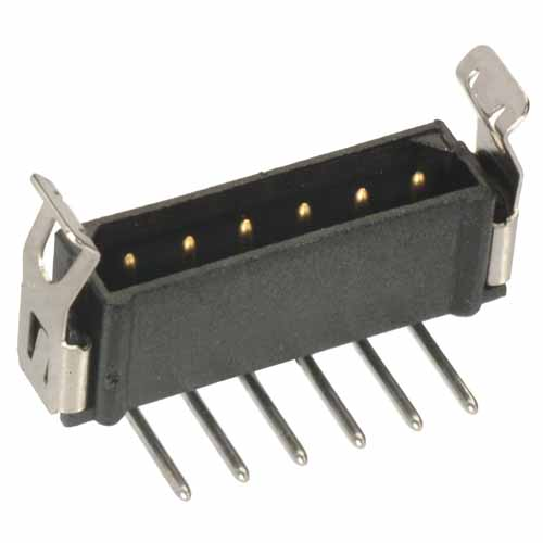 B5743-105-M-L-1 - 5 Pos. Male SIL Horizontal Throughboard Conn. Latches (BS Release)
