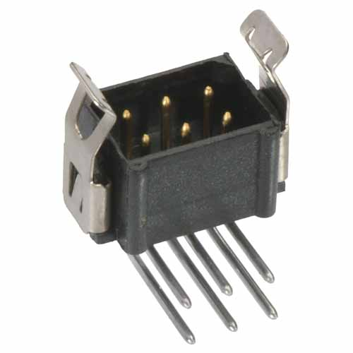 B5743-218-M-L-1 - 9+9 Pos. Male DIL Horizontal Throughboard Conn. Latches (BS Release)