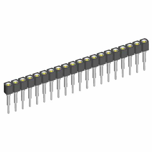 D01-9501842 - 18 Pos. Female SIL Extended Throughboard IC Strip
