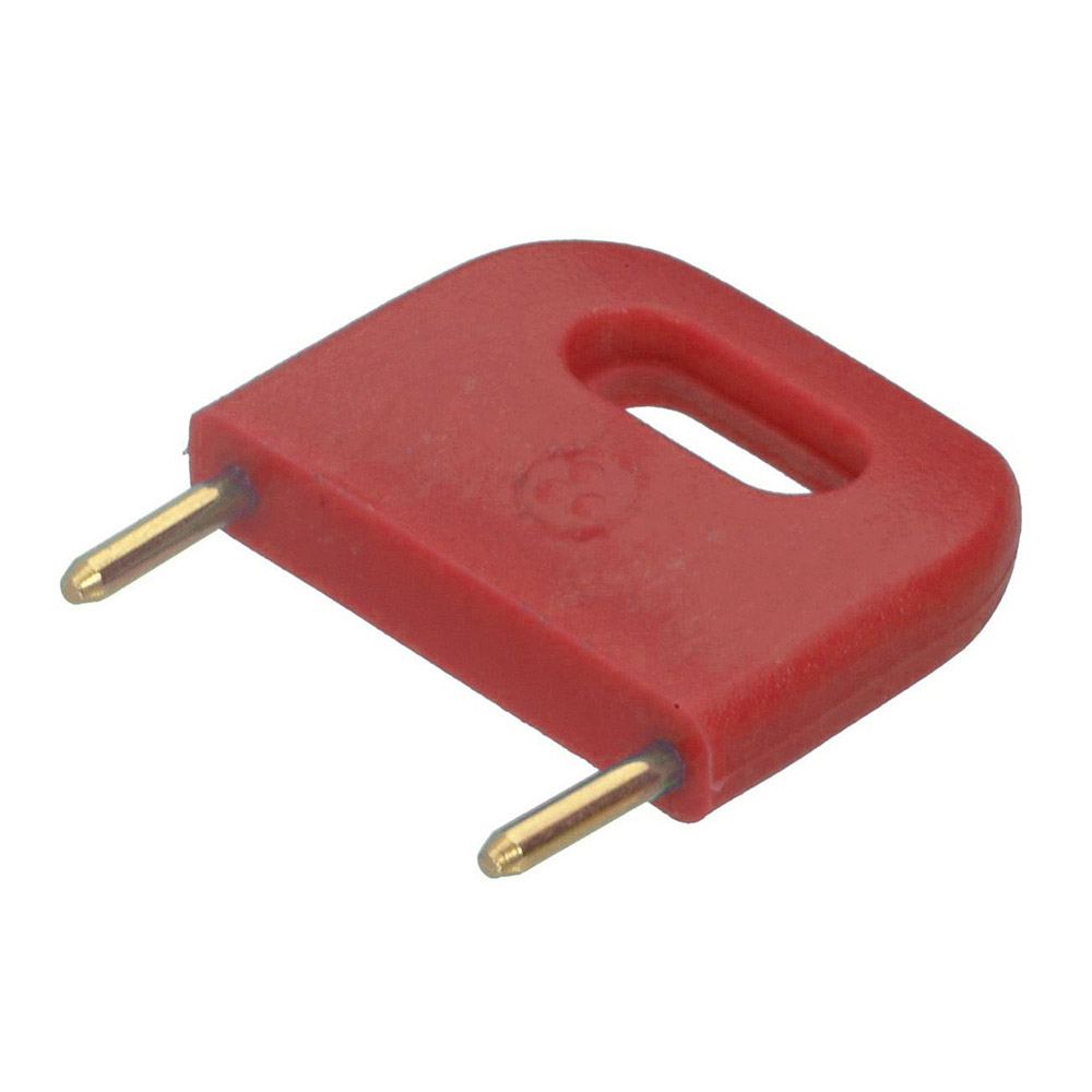 D3089-99 - Male Insulated 12.70mm Shorting Link, Red