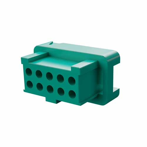 G125-2041096L0 - 5+5 Pos. Female DIL Cable Housing, for Latches