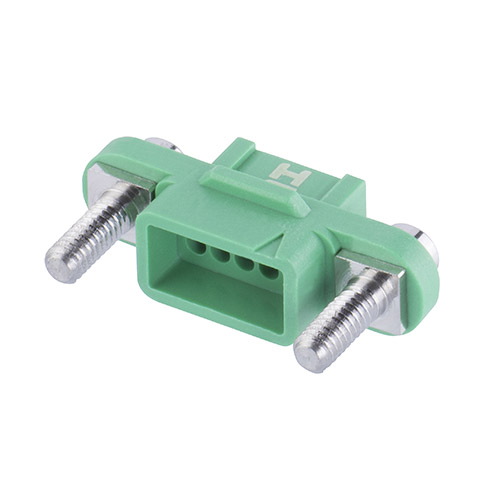 G125-2241096F3 - 5+5 Pos. Female DIL Cable Housing, Screw-Lok Reverse Fix Panel Mount