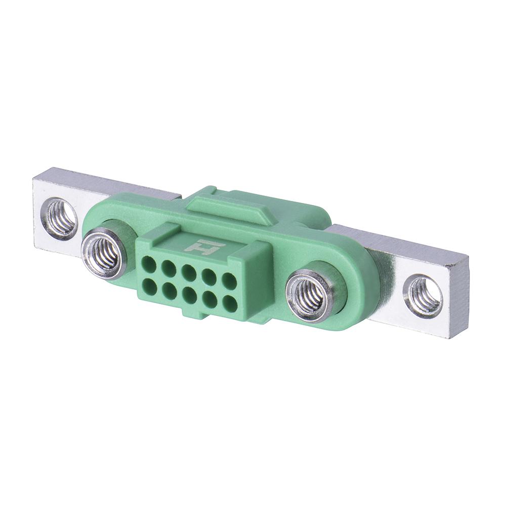 G125-2241096F5 - 5+5 Pos. Female DIL Cable Housing, Screw-Lok Reverse Fix Panel Mount