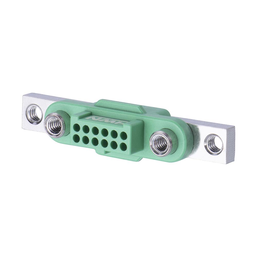 G125-2241296F5 - 6+6 Pos. Female DIL Cable Housing, Screw-Lok Reverse Fix Panel Mount
