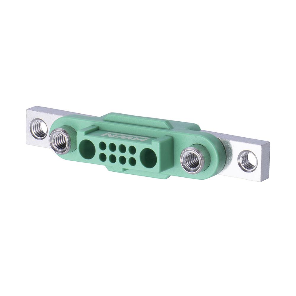 G125-22496F5-01-08-01 - 8+2 Pos. Female Cable Housing, Screw-Lok Reverse Fix Panel Mount