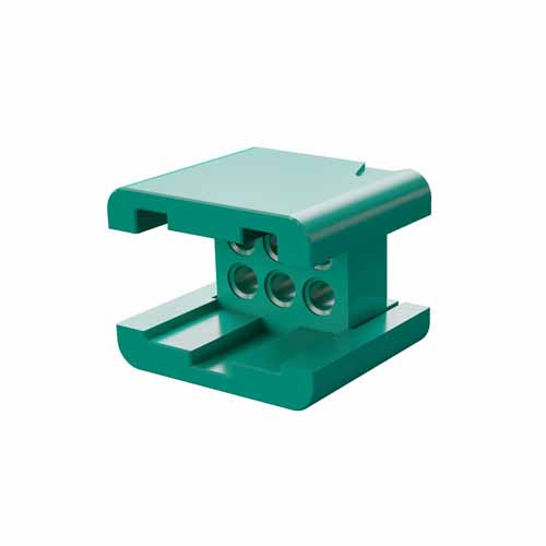 G125-3040696L0 - 3+3 Pos. Male DIL Cable Housing, no Latches