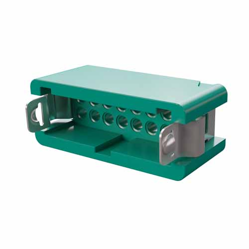 G125-3041696L4 - 8+8 Pos. Male DIL Cable Housing, Latches