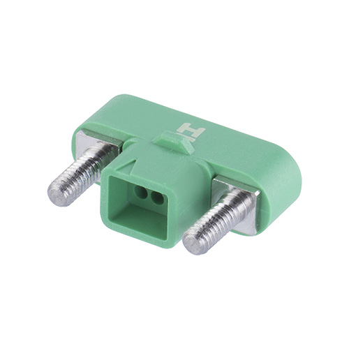G125-3240696M2 - 3+3 Pos. Male DIL Cable Housing, Screw-Lok Panel Mount