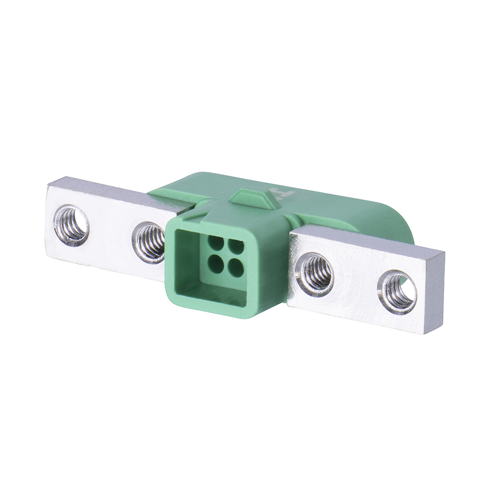 G125-3240696M5 - 3+3 Pos. Male DIL Cable Housing, Screw-Lok Panel Mount