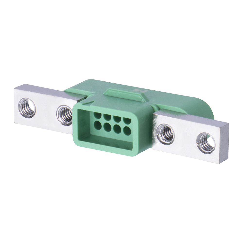 G125-3241096M5 - 5+5 Pos. Male DIL Cable Housing, Screw-Lok Panel Mount