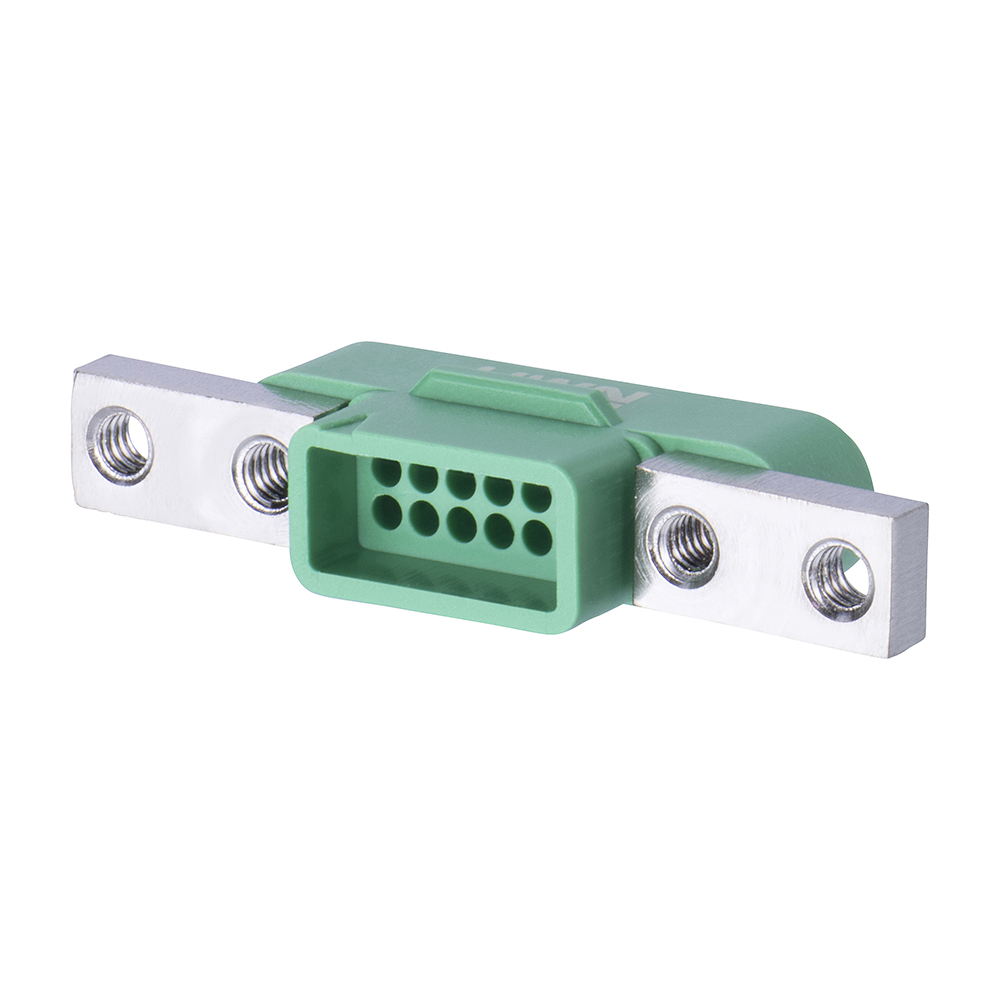 G125-3241296M5 - 6+6 Pos. Male DIL Cable Housing, Screw-Lok Panel Mount