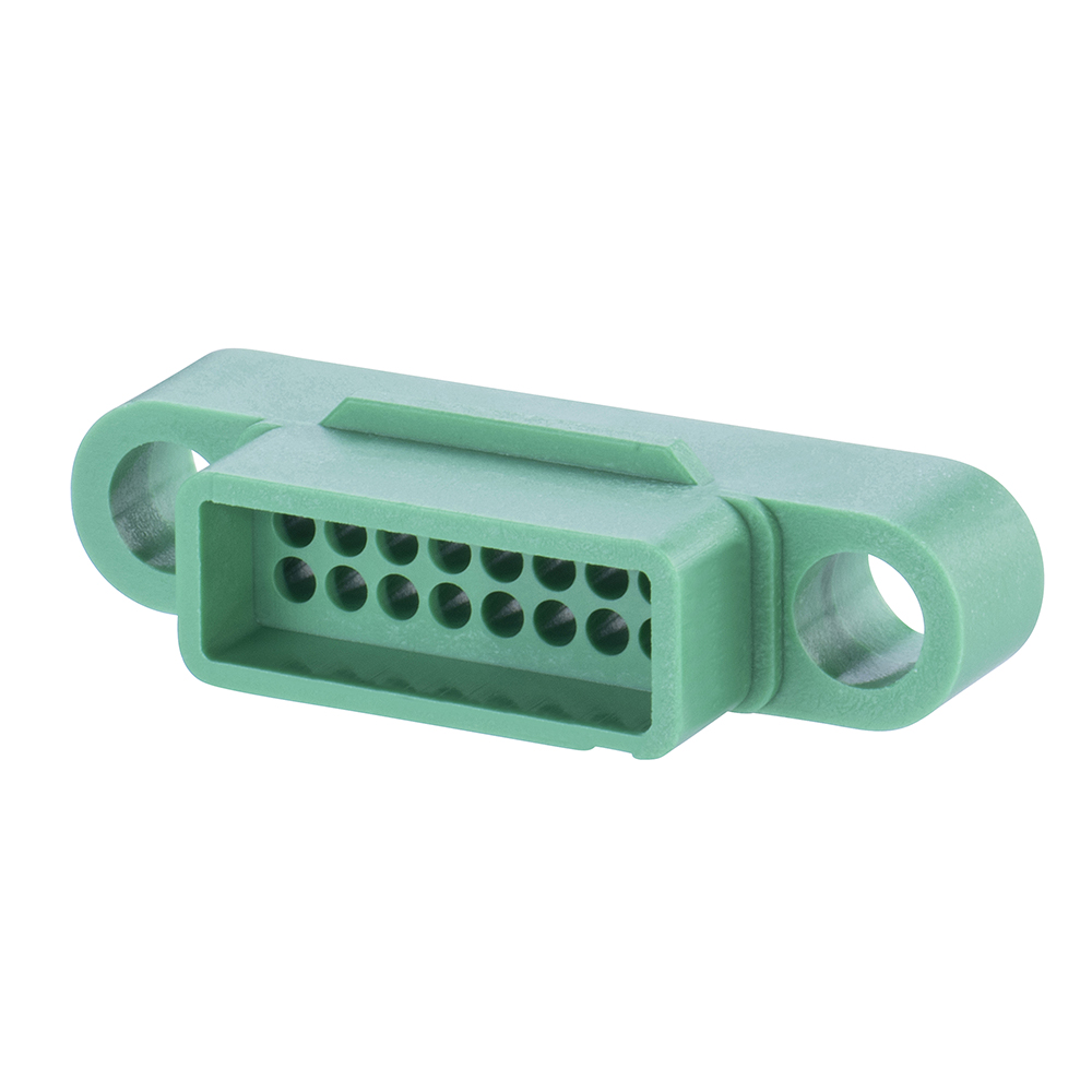 G125-324169600 - 8+8 Pos. Male DIL Cable Housing, no Screw-Lok