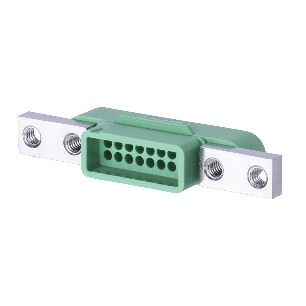 G125-3241696M5 - 8+8 Pos. Male DIL Cable Housing, Screw-Lok Panel Mount