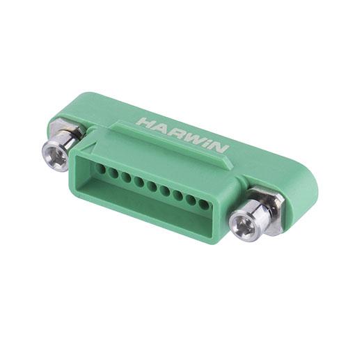 G125-3242096M3 - 10+10 Pos. Male DIL Cable Housing, Screw-Lok Reverse Fix