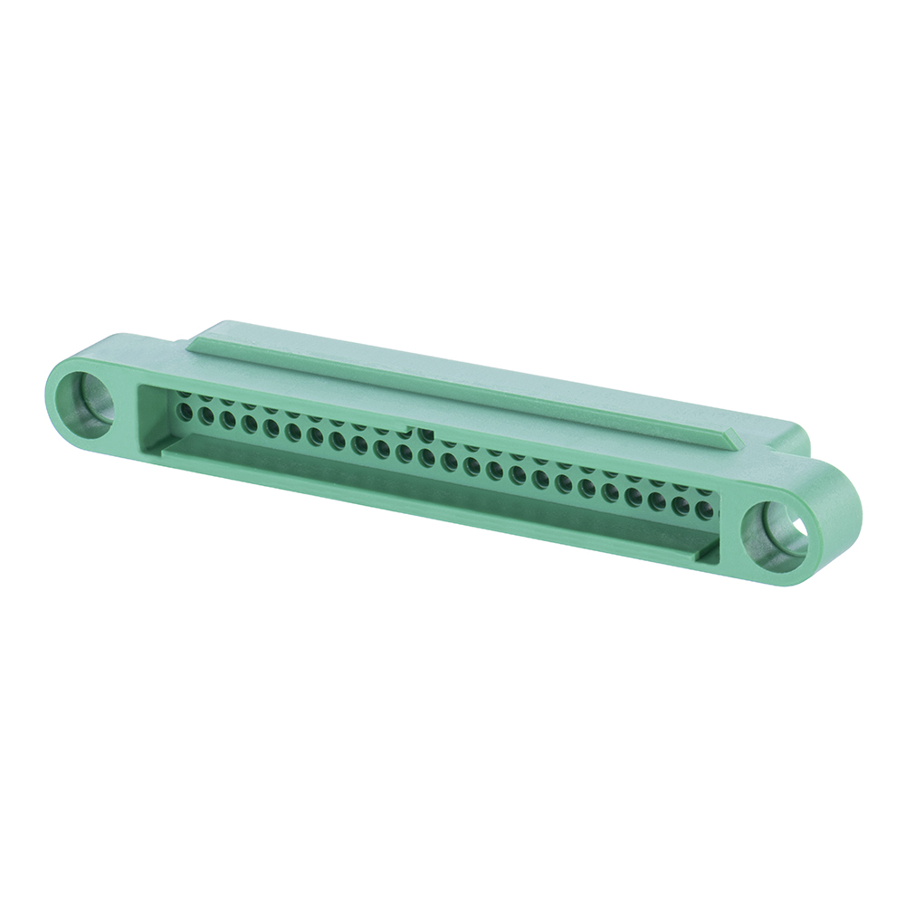 G125-324509600 - 25+25 Pos. Male DIL Cable Housing, no Screw-Lok