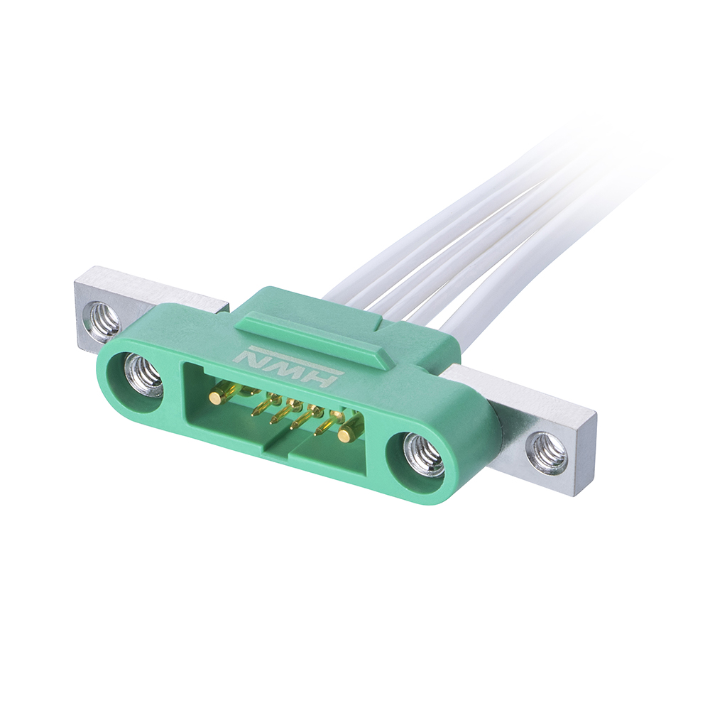G125-32496M5-01-08-01 - 8+2 Pos. Male Cable Housing, Screw-Lok Panel Mount