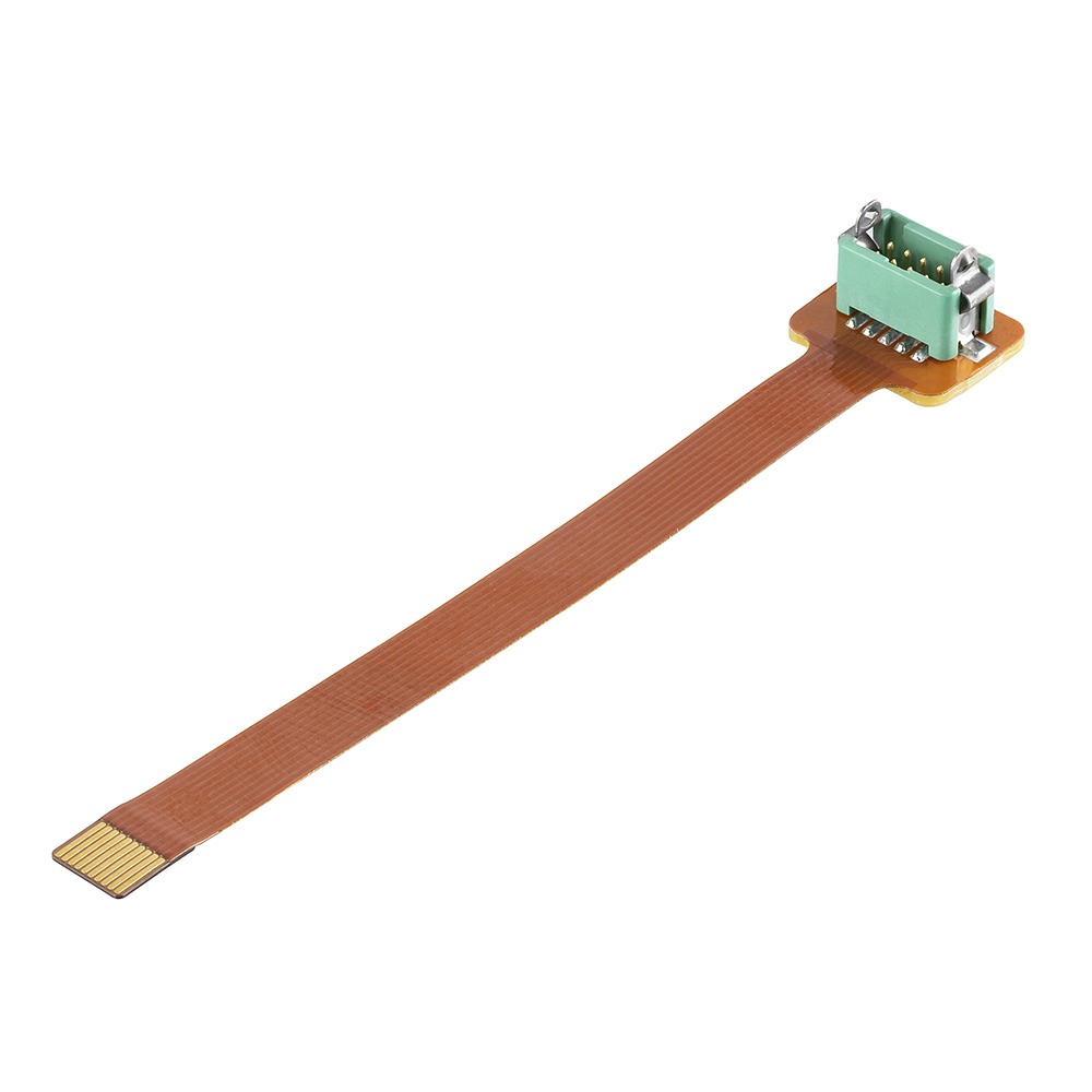 G125-F1MS110-075-L - 5+5 Pos. Male DIL Flex Circuit Assembly, 75mm, single-end, Latches