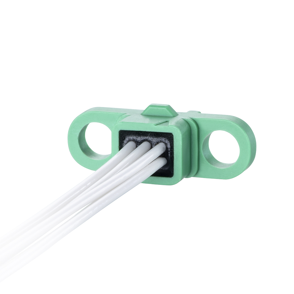 G125-FC10605F0-0150L - 3+3 Pos. Female DIL 26AWG Cable Assembly, 150mm, single-end, no Screw-Lok