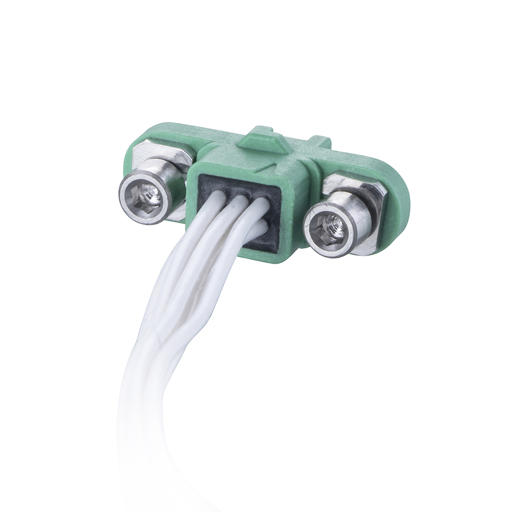 G125-FC10605F1-0150F1 - 3+3 Pos. Female DIL 26AWG Cable Assembly, 150mm, double-end, Screw-Lok