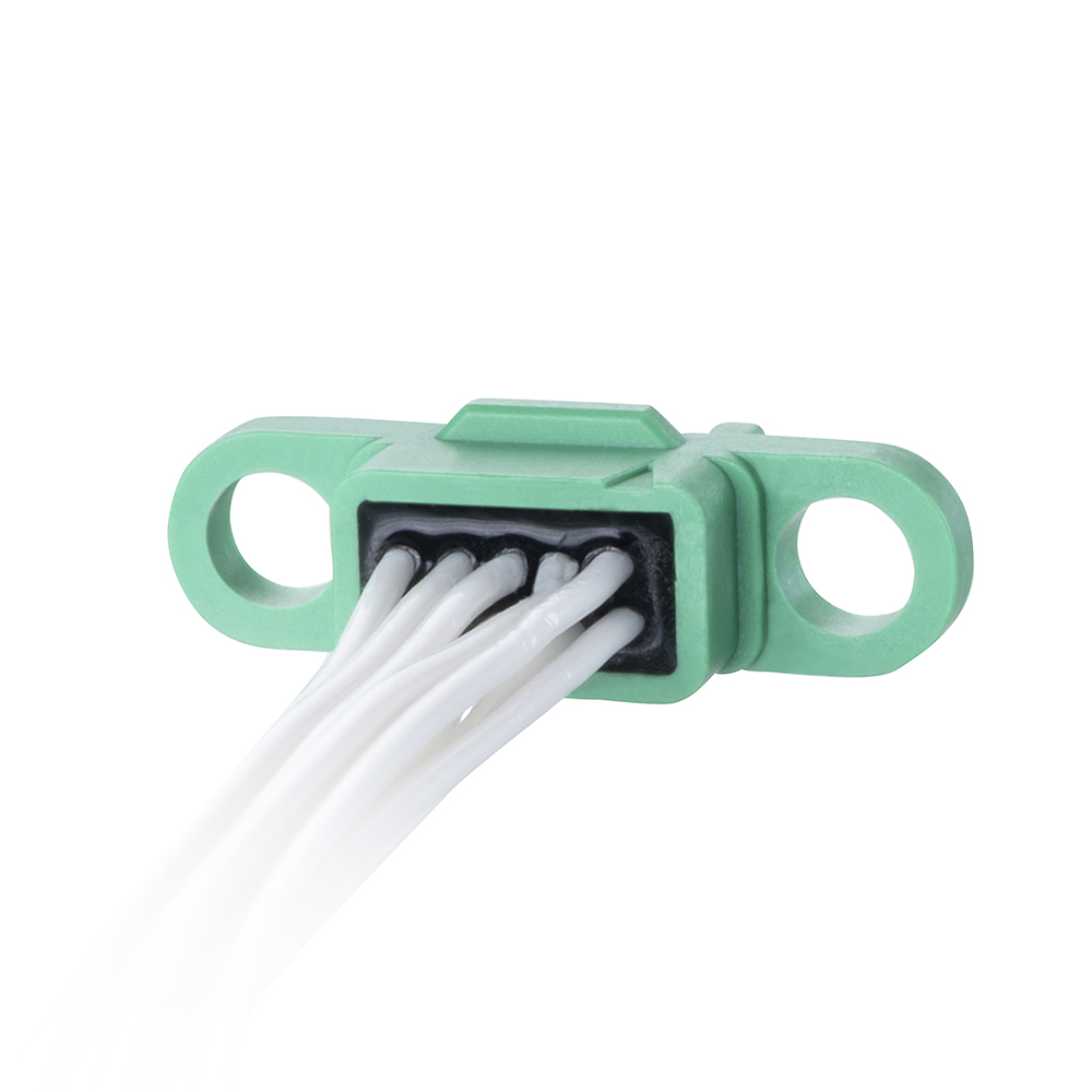 G125-FC11005F0-0450L - 5+5 Pos. Female DIL 26AWG Cable Assembly, 450mm, single-end, no Screw-Lok