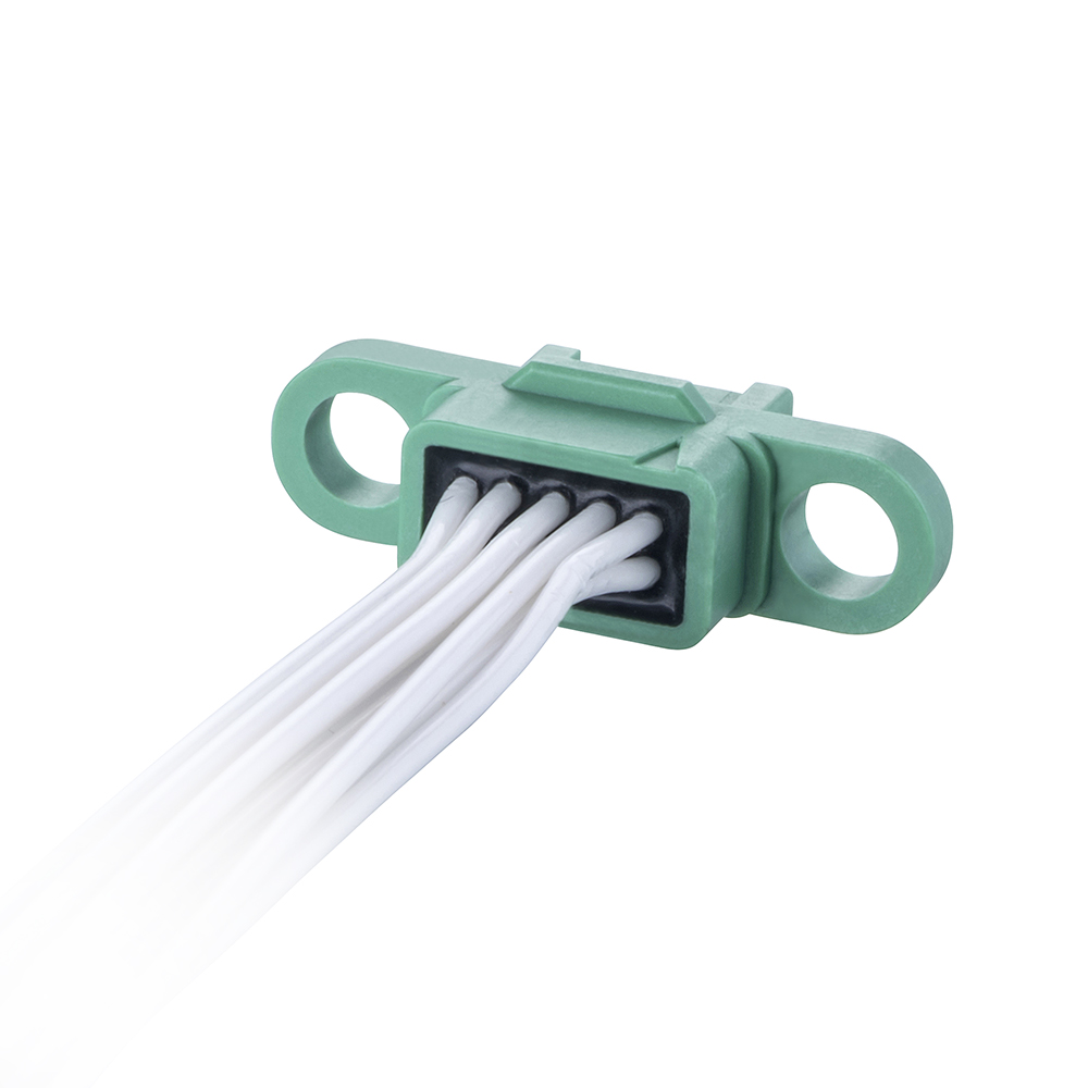 G125-FC11005F0-0150F0 - 5+5 Pos. Female DIL 26AWG Cable Assembly, 150mm, double-end, no Screw-Lok