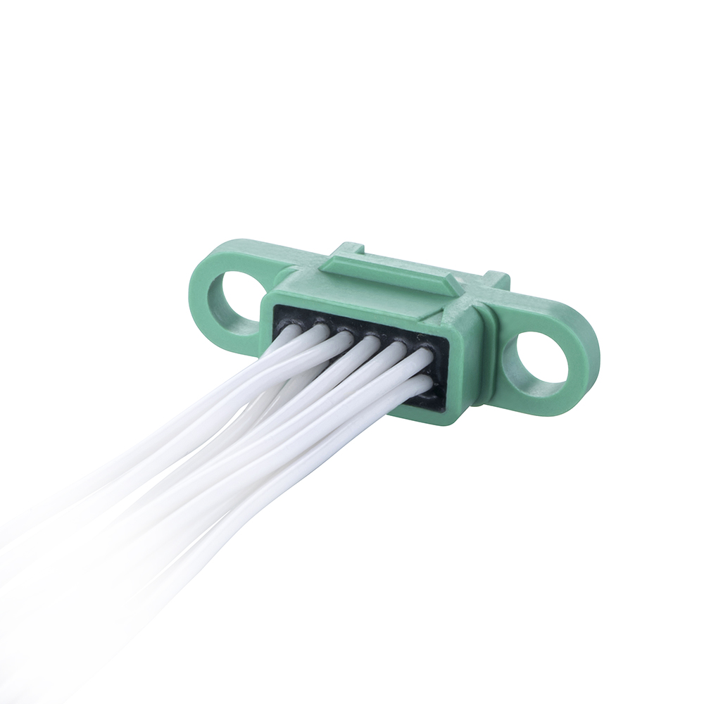 G125-FC21205F0-0300F0 - 6+6 Pos. Female DIL 28AWG Cable Assembly, 300mm, double-end, no Screw-Lok