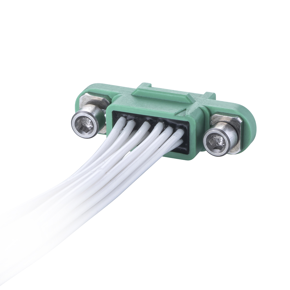 G125-FC11205F1-XXXXF1 - 6+6 Pos. Female DIL 26AWG Cable Assembly, double-end, Screw-Lok