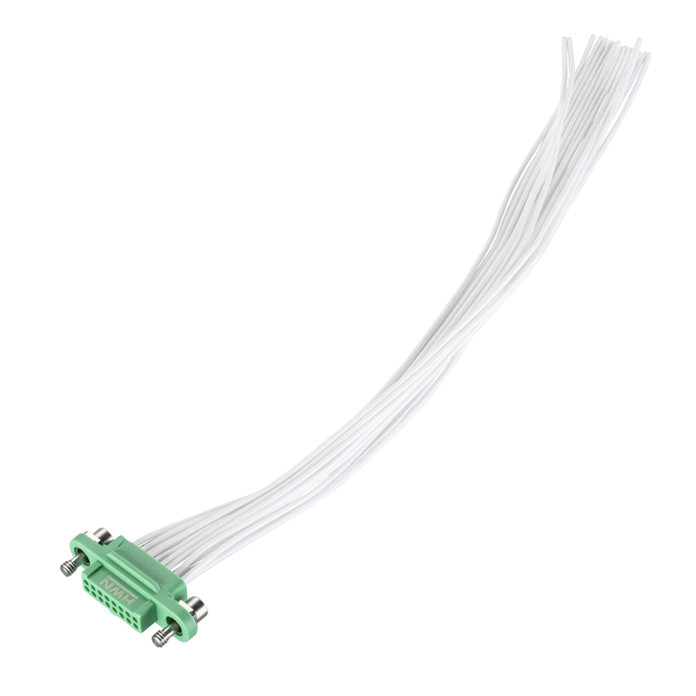 G125-FC21605F1-XXXXL - 8+8 Pos. Female DIL 28AWG Cable Assembly, single-end, Screw-Lok