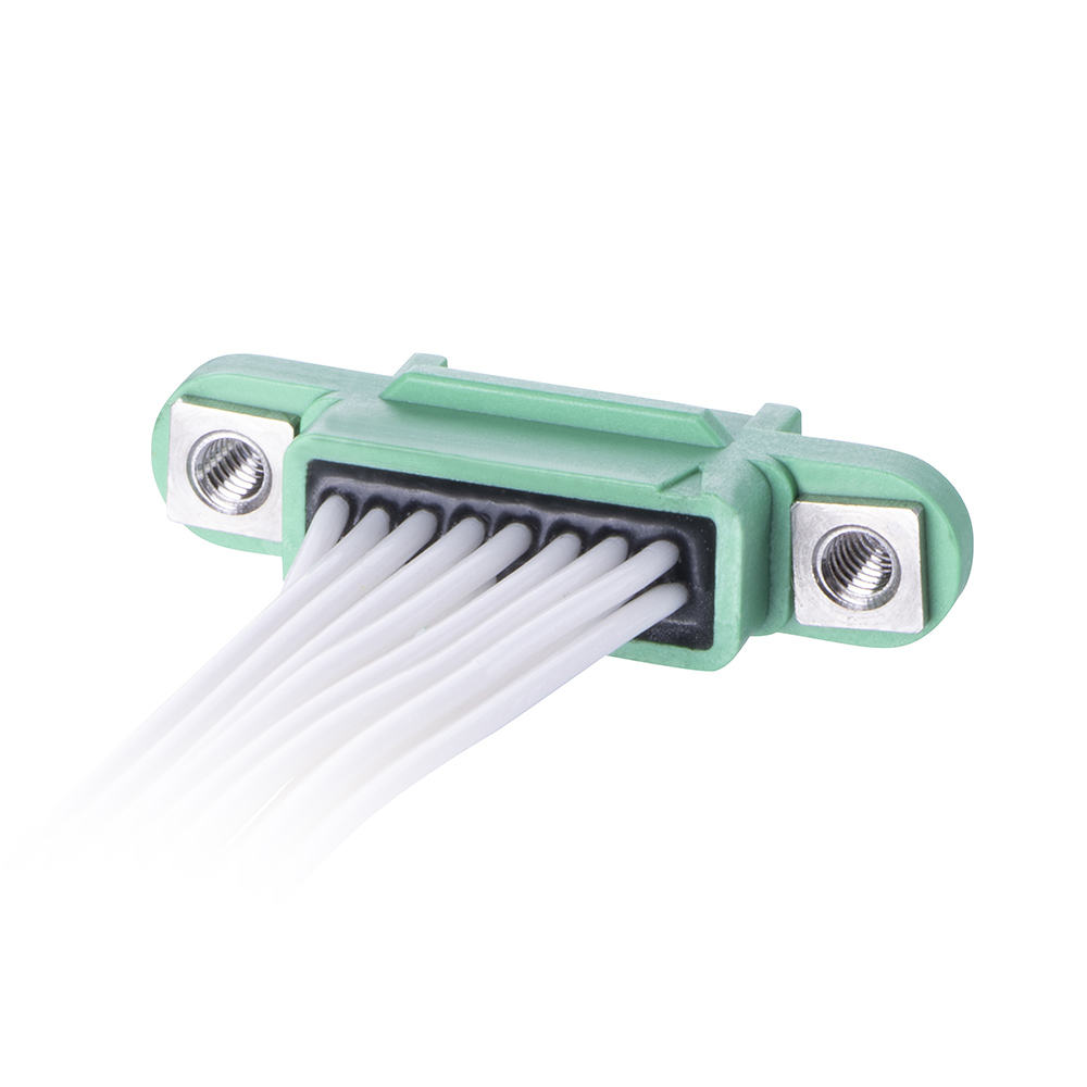G125-FC11668F2-XXXXL - 8+8 Pos. Female DIL 26AWG Cable Assembly, single-end, Screw-Lok Reverse Fix
