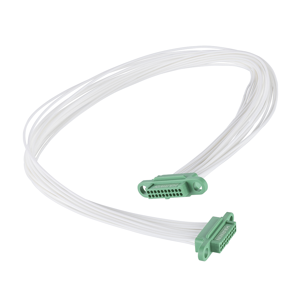 G125-FC22005F0-0150F0 - 10+10 Pos. Female DIL 28AWG Cable Assembly, 150mm, double-end, no Screw-Lok
