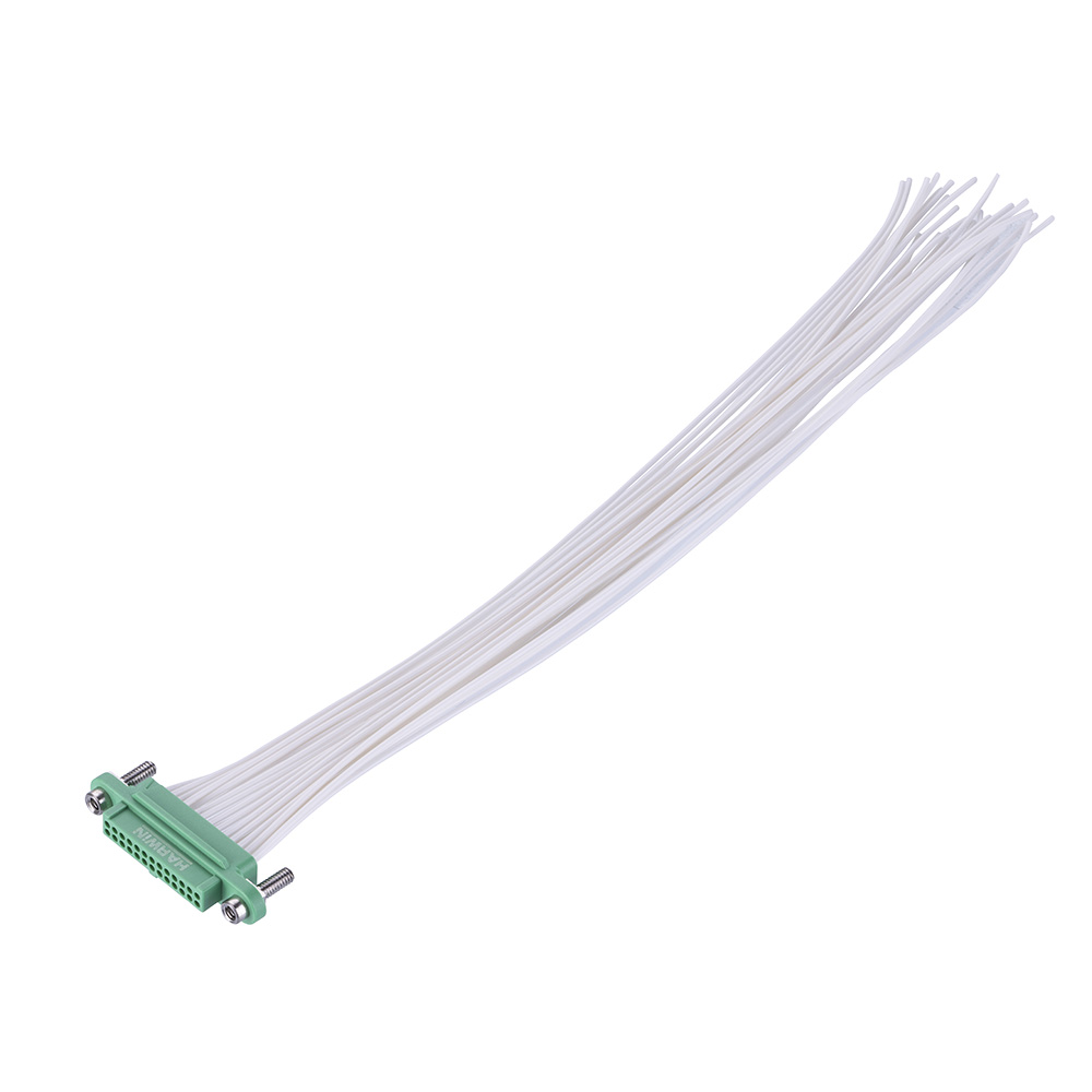 G125-FC22605F3-XXXXL - 13+13 Pos. Female DIL 28AWG Cable Assembly, single-end, Screw-Lok Reverse Fix Panel Mount