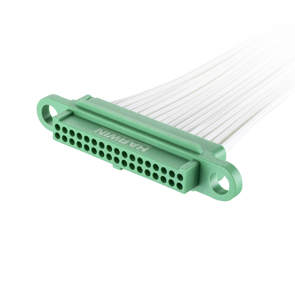 G125-FC23405F0-0450L - 17+17 Pos. Female DIL 28AWG Cable Assembly, 450mm, single-end, no Screw-Lok