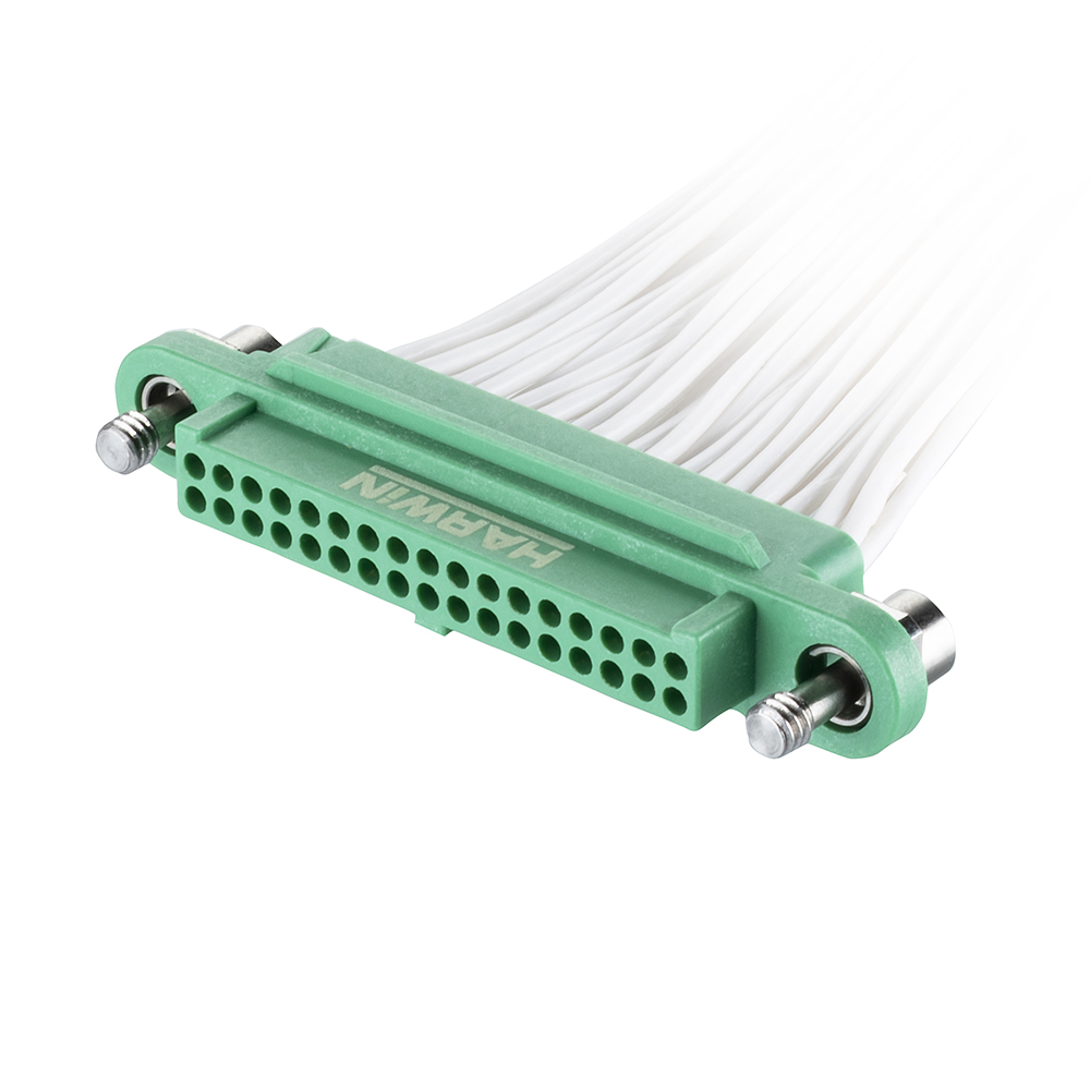 G125-FC23405F1-0150F1 - 17+17 Pos. Female DIL 28AWG Cable Assembly, 150mm, double-end, Screw-Lok
