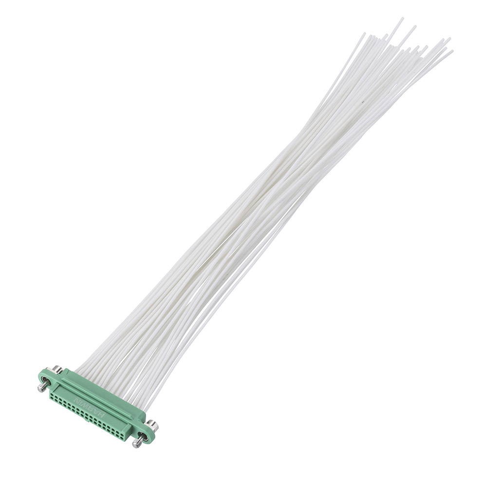 G125-FC23468F1-XXXXL - 17+17 Pos. Female DIL 28AWG Cable Assembly, single-end, Screw-Lok