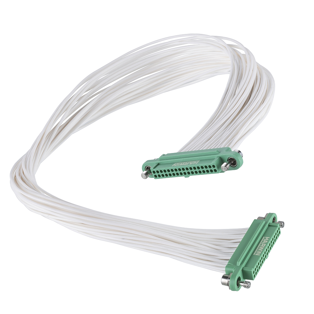 G125-FC13405F1-0300F1 - 17+17 Pos. Female DIL 26AWG Cable Assembly, 300mm, double-end, Screw-Lok