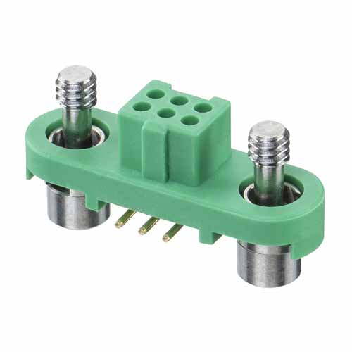 G125-FS10605F1P - 3+3 Pos. Female DIL Vertical SMT Conn. Screw-Lok