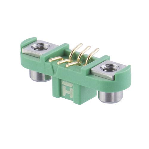 G125-FS10605F2R - 3+3 Pos. Female DIL Vertical SMT Conn. Screw-Lok Reverse Fix (T+R)