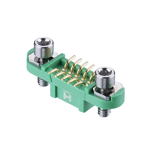 G125-FS11005F1P - 5+5 Pos. Female DIL Vertical SMT Conn. Screw-Lok