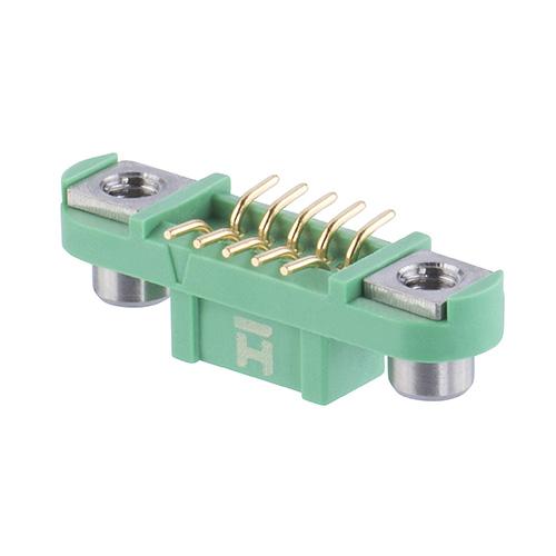 G125-FS11005F2R - 5+5 Pos. Female DIL Vertical SMT Conn. Screw-Lok Reverse Fix (T+R)