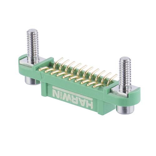G125-FS12005F3R - 10+10 Pos. Female DIL Vertical SMT Conn. Screw-Lok Reverse Fix Board Mount (T+R)