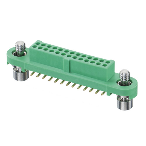 G125-FS12605F1P - 13+13 Pos. Female DIL Vertical SMT Conn. Screw-Lok